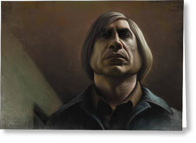 No Country For Old Men Greeting Card by Derek Wehrwein
