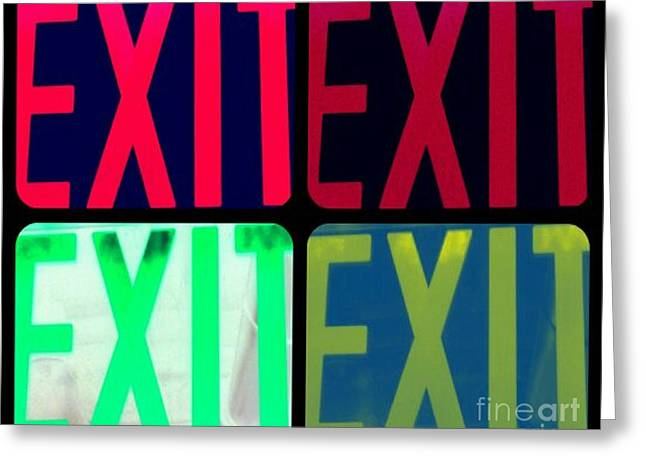 No Exit Greeting Card