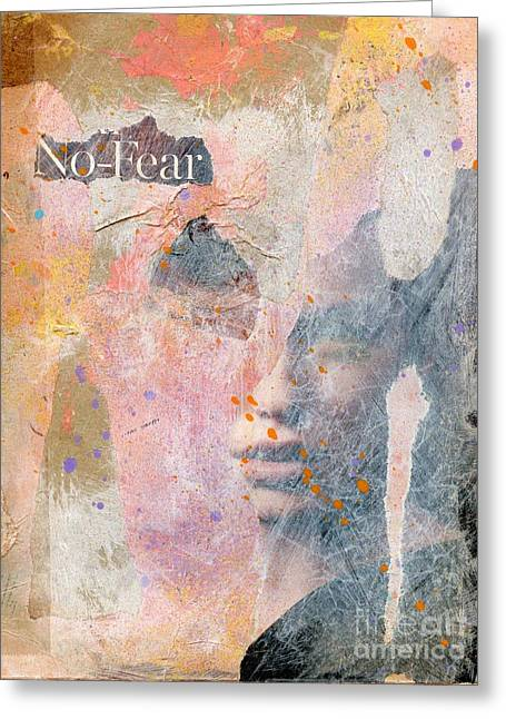 No Fear Greeting Card by P J Lewis