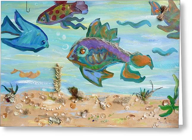 No Fishing Greeting Card by Brenda Ruark