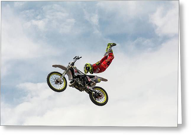No Hands Superflyer Greeting Card