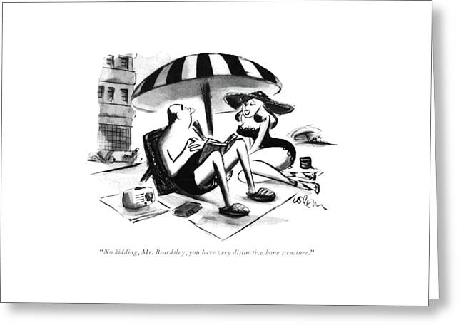 No Kidding, Mr. Beardsley Greeting Card by Lee Lorenz