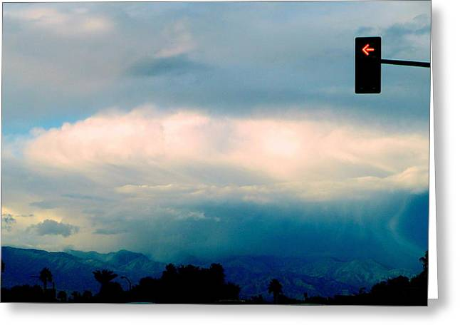 No Left Turn For Cloud Greeting Card by Randall Weidner