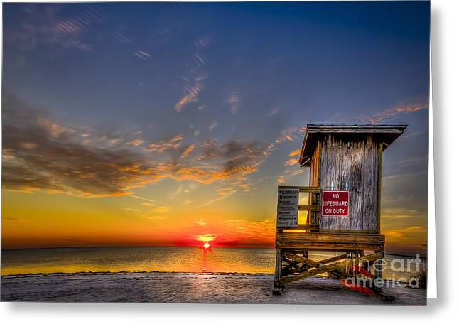 No Life Guard On Duty Greeting Card by Marvin Spates