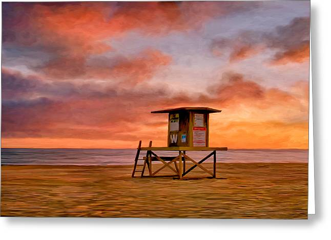 No Lifeguard On Duty At The Wedge Greeting Card by Michael Pickett