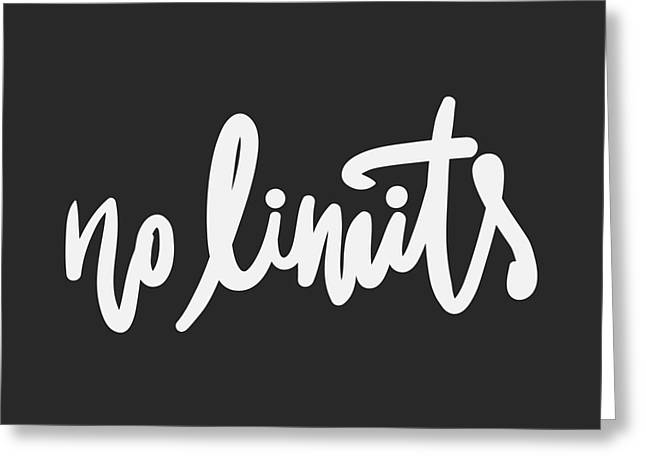 No Limits. Hand Lettering And Custom Greeting Card