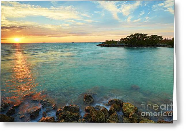 No Name Harbor Sunset Greeting Card
