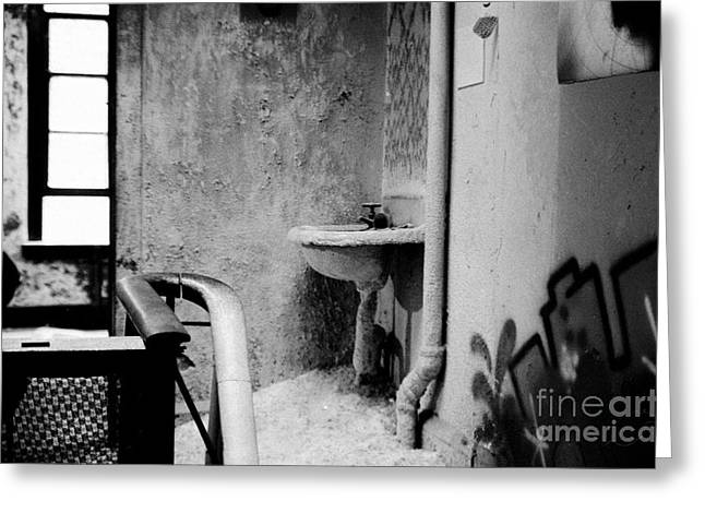 Greeting Card featuring the photograph No No No White Sink by Steven Macanka