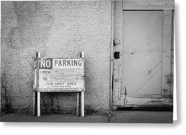 No Parking Greeting Card