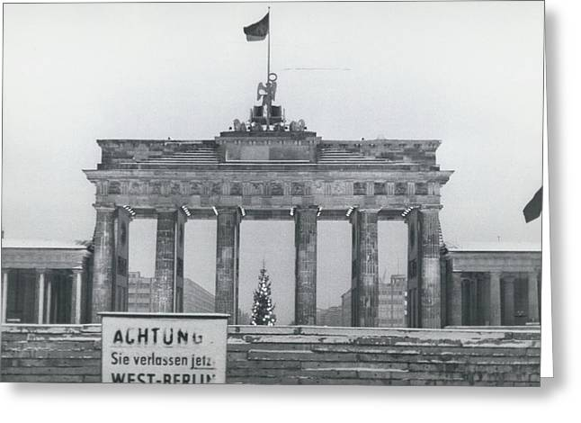 No Passing-papers For West-berlins Inhabitants Greeting Card by Retro Images Archive
