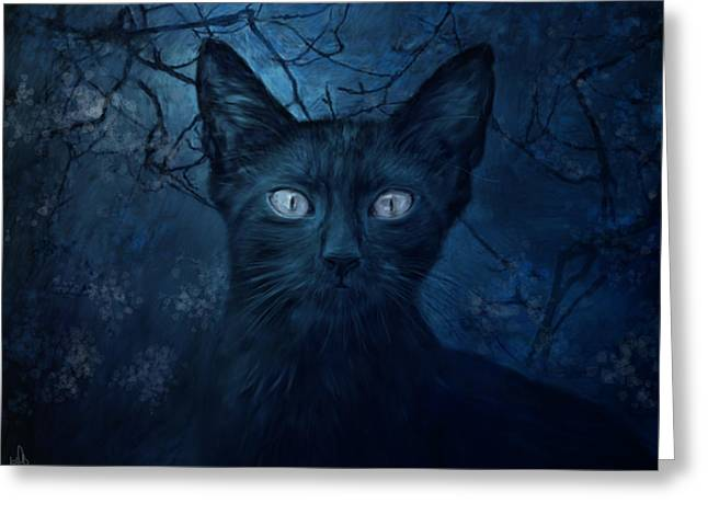 No Place For Scaredy Cats Greeting Card by Hazel Billingsley