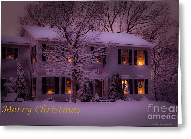 No Place Like Home Christmas Card Greeting Card by Wayne Moran