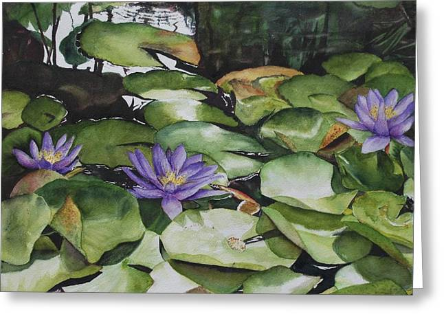 No Room In The Pond Greeting Card by Barbara Littenberg