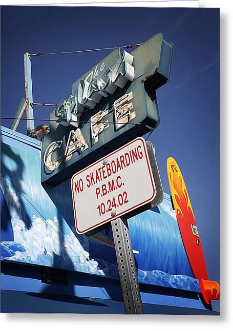 No Skateboarding Greeting Card by Jeff Klingler
