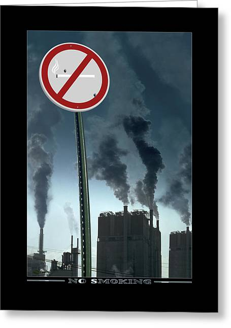 No Smoking Greeting Card by Mike McGlothlen