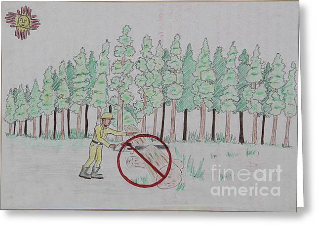 No To Logging  Greeting Card