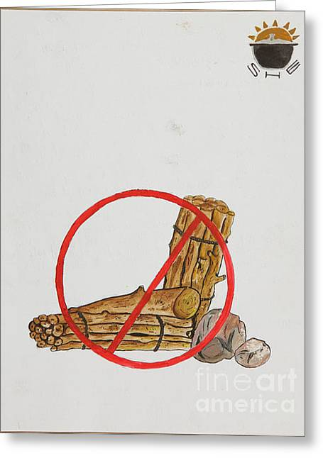 No To Logs Greeting Card