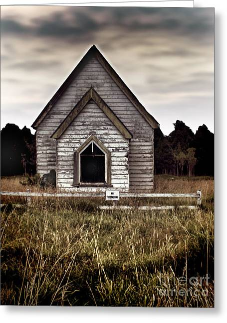 No Trespassing Greeting Card by Karen Lewis