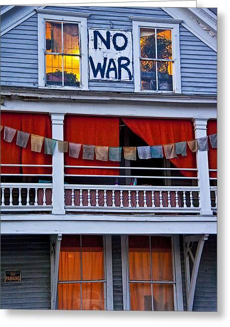 No War Greeting Card by Randall Nyhof