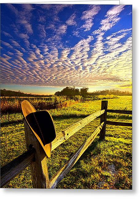 No Worries Greeting Card by Phil Koch