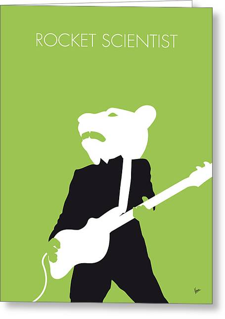 No006 My Teddy Bears Minimal Music Poster Greeting Card