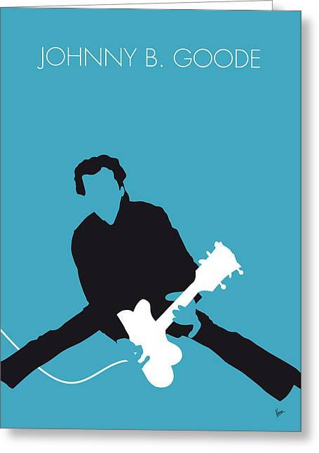 No015 My Chuck Berry Minimal Music Poster Greeting Card by Chungkong Art