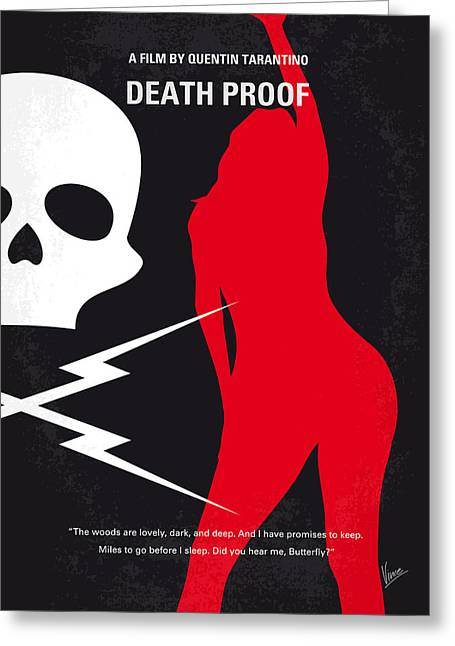 No018 My Death Proof Minimal Movie Poster Greeting Card by Chungkong Art