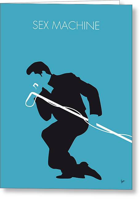 No018 My James Brown Minimal Music Poster Greeting Card by Chungkong Art