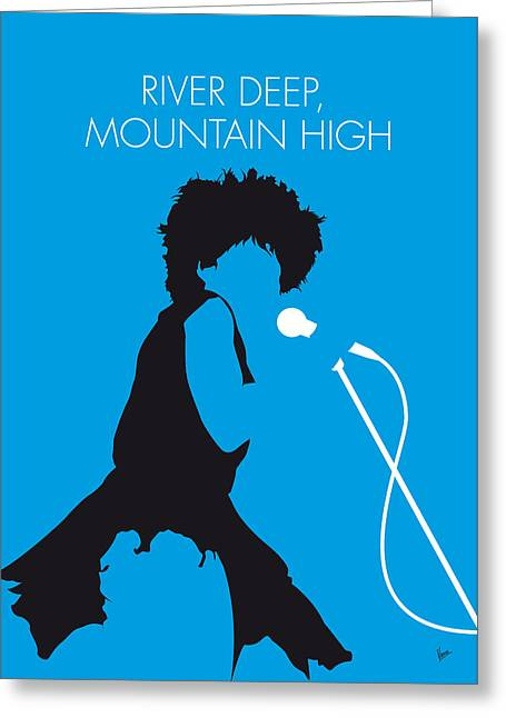 No019 My Tina Turner Minimal Music Poster Greeting Card