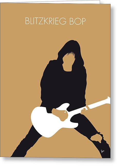 No020 My Ramones Minimal Music Poster Greeting Card by Chungkong Art