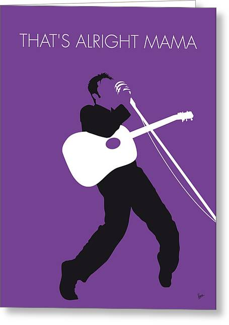 No021 My Elvis Minimal Music Poster Greeting Card by Chungkong Art