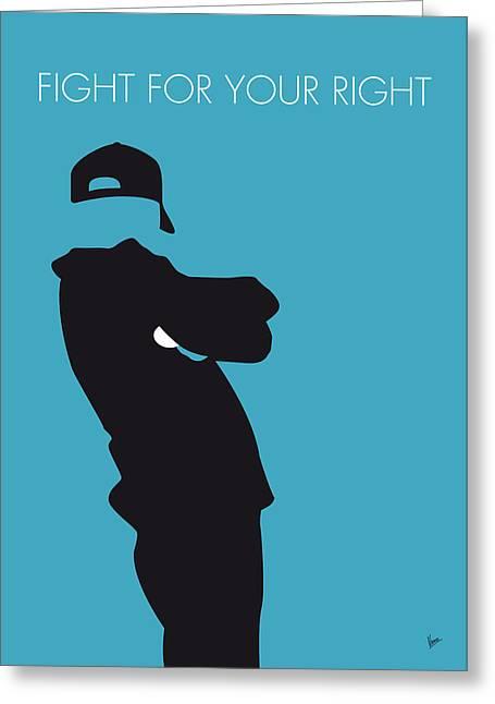 No025 My Beastie Boys Minimal Music Poster Greeting Card by Chungkong Art