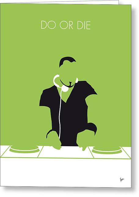 No026 My Afrojack Minimal Music Poster Greeting Card by Chungkong Art