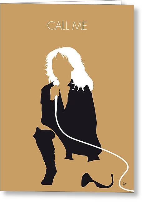 No030 My Blondie Minimal Music Poster Greeting Card by Chungkong Art