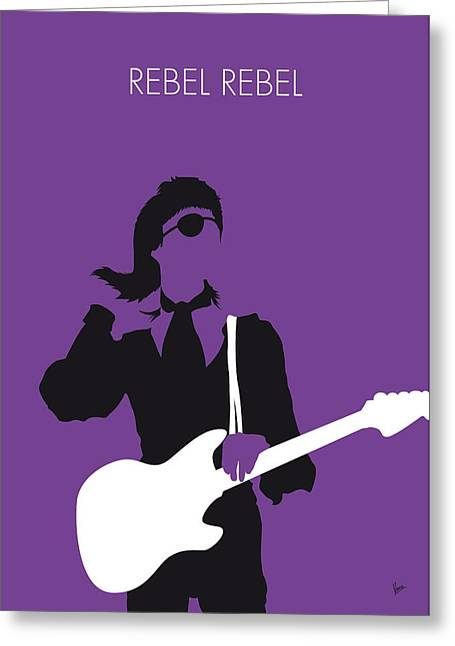 No031 My Bowie Minimal Music Poster Greeting Card by Chungkong Art