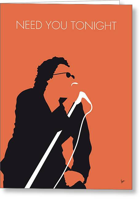 No033 My Inxs Minimal Music Poster Greeting Card