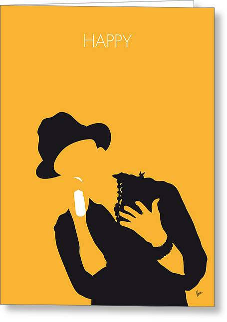 No034 My Pharrell Williams Minimal Music Poster Greeting Card
