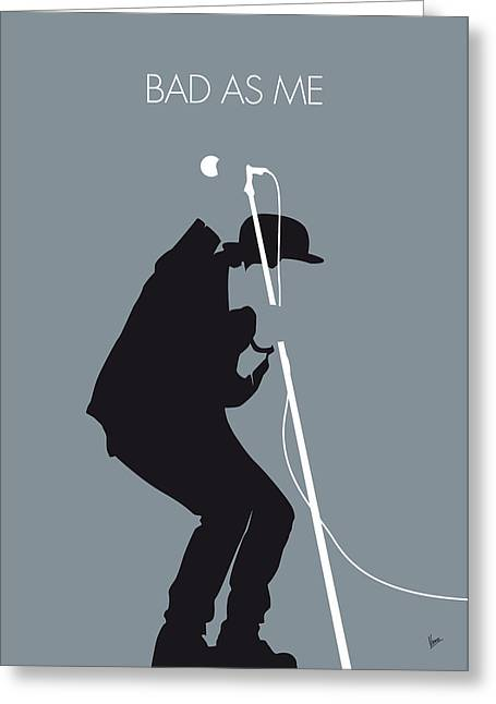 No037 My Tom Waits Minimal Music Poster Greeting Card