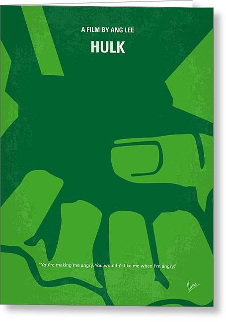 No040 My Hulk Minimal Movie Poster Greeting Card