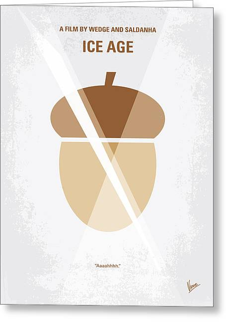 No041 My Ice Age Minimal Movie Poster Greeting Card