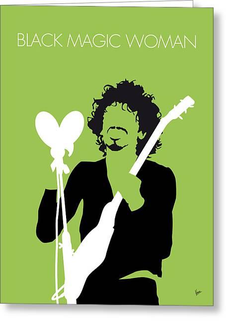 No046 My Santana Minimal Music Poster Greeting Card