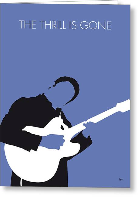 No048 My Bb King Minimal Music Poster Greeting Card