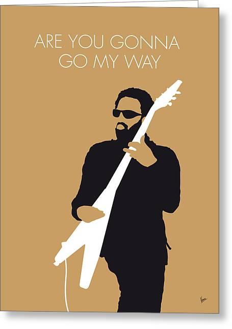 No050 My Lenny Kravitz Minimal Music Poster Greeting Card