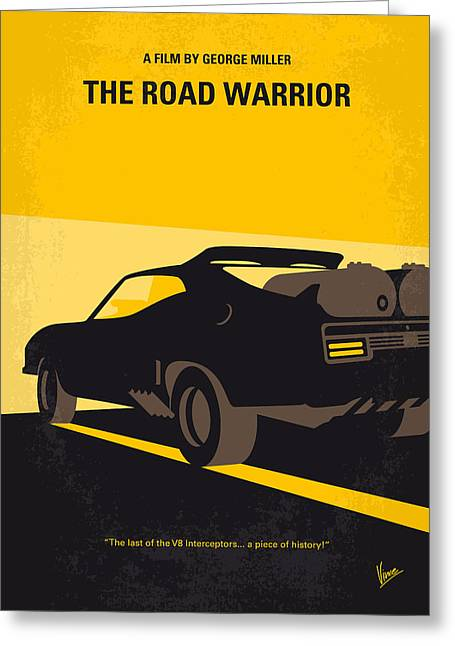 No051 My Mad Max 2 Road Warrior Minimal Movie Poster Greeting Card