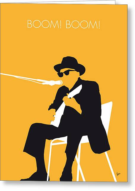 No054 My Johnny Lee Hooker Minimal Music Poster Greeting Card by Chungkong Art