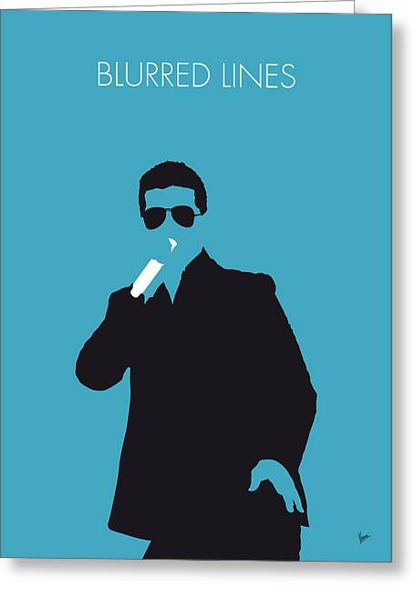 No055 My Robin Thicke Minimal Music Poster Greeting Card by Chungkong Art