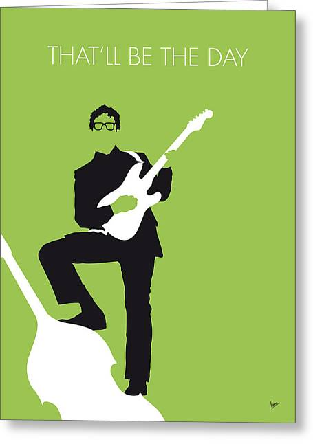 No056 My Buddy Holly Minimal Music Poster Greeting Card by Chungkong Art