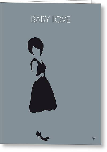 No057 My Diana Ross Minimal Music Poster Greeting Card