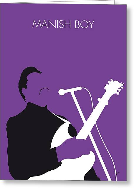 No061 My Muddy Waters Minimal Music Poster Greeting Card by Chungkong Art