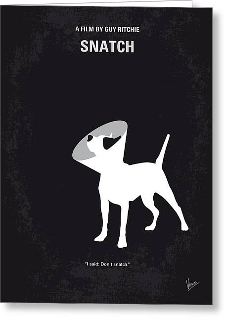 No079 My Snatch Minimal Movie Poster Greeting Card by Chungkong Art